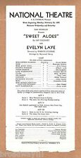 "Rex Harrison (Debut) ""SWEET ALOES"" Evelyn Laye 1936 FLOP Tryout Broadside"