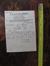 V T & T H Ackling Railway Stores Baulkham Hills Massey Harris Agent 1949
