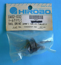 HIROBO®  SPARE PARTS ~ Tail Drive Shaft w/Pulley ~ 0402-032 ~ NEW IN ORIG PACK