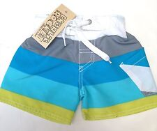 NWT Charlie Rocket Boys Swimsuit Size 12mo~Stripes~Made in the USA~Boutique
