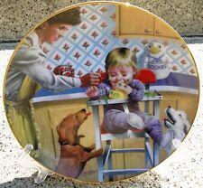 RETIRED RARE Hamilton DACHSHUND Puppy Dog Limited Editon Plate + COA