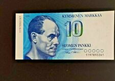 1986 FINLAND 10 MARKKAA BANKNOTE UNC * P-113 *