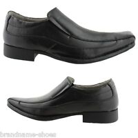 MENS JULIUS MARLOW JM33 JM VINCE BLACK FORMAL CASUAL SLIP ON WORK DRESS SHOES