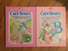 Lot of 2 Vintage Care Bear Baby Hugs Baby Tugs Look and Find Alphabet Book 1984
