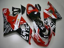 Red Black White ABS Injection Fairing Kit Fit for GSXR600 GSXR750 2004 2005