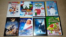 Lot of 8 Children's Christmas DVD Classics-Rudolph, Frosty, Charlie Brown & More
