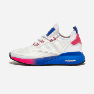 Adidas ZX 2K Boost W - White Pink Blue / FY0605 / Running Shoes Sneakers