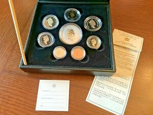 2001 Premium Eight Coin Proof Set with .9999 Fine Silver Hologram Maple Leaf