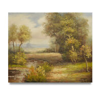 NY Art - Traditional Dutch Landscape 20x24 Original Oil Painting on Canvas!
