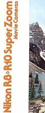 1970s NIKON R8 & R10 SUPER ZOOM SUPER 8 MOVIE CAMERA SYSTEM BROCHURE -NIKON