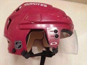 ARIZONA COYOTES Kevin Bahl #91 CCM red helmet 2018-2019 training camps (DEVILS)