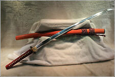 High Quality Japan Samurai Sword Katana Clay Tempered Pattern Steel Sharp Blade