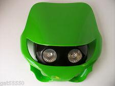Kawasaki Green Universal Motorcycle Headlight Enduro Streetfighter Kx Kxf Zxr Zx
