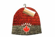 CANADA MAPLE LEAF GREY RED TOQUE HAT..FOR KIDS.. MOMENTO
