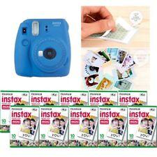 Fujifilm Instax Mini 9 Camera Cobalt Blue 10 Packs Fuji Film 100 Photo 8
