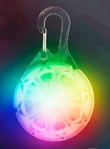 New Nite Ize Rainbow SPOTLIT Disc-O Select Collar LED Light See at Night Dog