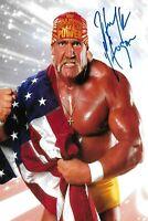 Reprint 2 Hulk Hogan WWF WWE Autographed Wrestling 4x6 Fridge Man Cave DECOR BAR