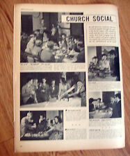 1946 Heinz 57 Ad Church Social Baked Bean Supper Christ Episcopal Bordentown NJ