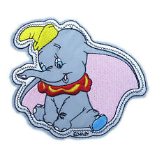"""Dumbo Character Cartoon Patch Embroidered Iron On Elephant Applique 4.4""""X3.9"""""""