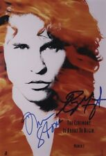 More details for the doors signed photograph - rock band - ray manzarek / oliver stone - preprint