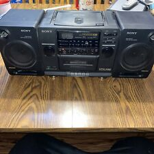 Vintage Sony Cfd-440 Boombox, Am/Fm, Cd, Cassette, Detachable Speakers See Disc