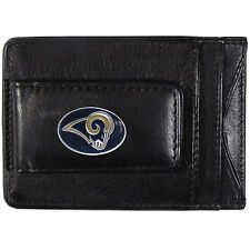 St Louis Rams NFL Football Team Leather Card Holder Money Clip Wallet