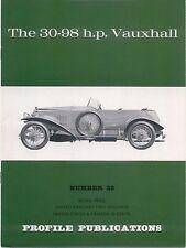 Vauxhall 30-98 HP profilo pubblicazione NUMERO 32 12 PAGINE A COLORI LIBRETTO