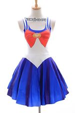 SK-02 Gr. S-M  Sailor Moon Usagi Bunny blau Kleid dress Cosplay Manga Kostüm