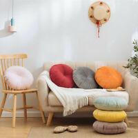 Velvet Pumpkin Sofa Throw Pillow Round Chair Back Cushion Home Decor 40x40cm