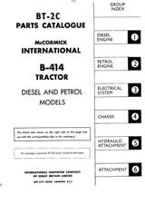 Case IH B414 Parts Manual