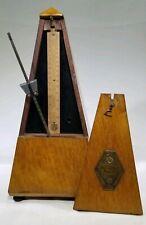 Antique Wood Metronome Maelzel Paris France Sn