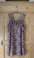 Madewell x Karen Walker~ Silk Floral Rosalie Ruffled Dress~ Sz 12~ EUC