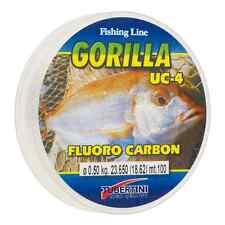 Monofilament GORILLA UC-4 TUBERTINI 0,50 mm FLUOROCARBON 100 MT UC 4 invisible