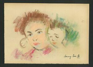 MARY CASSATT - Pastel on original 19th century paper - Maternity