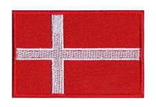 Écusson patch patche drapeau DANEMARK 70 x 45 mm Pays Scandinavie coudre