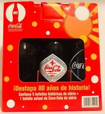 Rare Limited Edition Vintage Mexican Coke Coca Cola Glass Ropo 6 pack Bottles