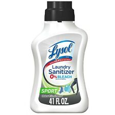 lysol laundry sanitizer 41 oz NEW kills 99.9 Sport Scent Odor Eliminator