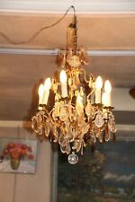 Crystal chandelier Gold crystal pendants Ceiling chandelier Bedroom chandelier