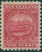 New Zealand 1900 SG274 1d crimson White Terrace MH