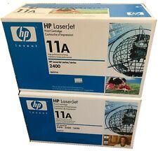 2 Genuine Q6511A 11A HP Black Toner LaserJet 2400 2410 2420 2420D 2420DN