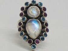 Sterling Silver Nicky Butler Moonstone Ring Size 9