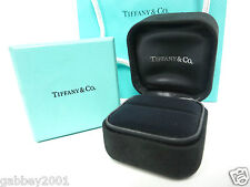 TIFFANY & Co. Suede Large Engagement Ring Black suede Box, Blue Box, Bag