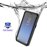 Samsung S9 S9 Plus Hard Case, Waterproof Cover with Built-in Screen Protector