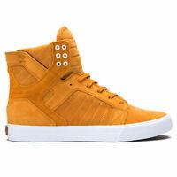 Supra Men's Skytop Hi Top Sneaker Shoes Desert-White Brown Footwear Casual Activ