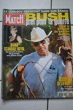 PARIS MATCH 2791 BUSH LADY DIANA SHEILA LAGARFELD LEFEBURE 2002
