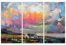 Scott Naismith - Duirinish Skye - 150x100cm Triptych Canvas Wall Art WDCT93201