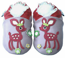 Soft Sole Leather Baby Infant Kid Children Deer Lilac Girl Gfit Crib Shoe 0-6M