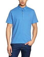 Farah Vintage Mens Hayden Short Sleeve Polo Shirt Size Medium BNWT Azul Blue
