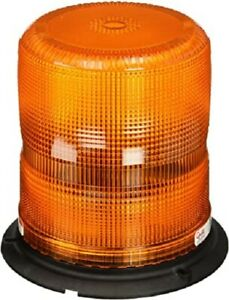AMBER Rotating Safety Beacon ~ 65/80 Flashes per min. 12VDC ~ Grote 77133
