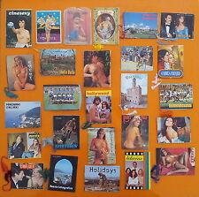 Super lotto ricco di 26 Calendarietti da Barbiere anni '60/'80